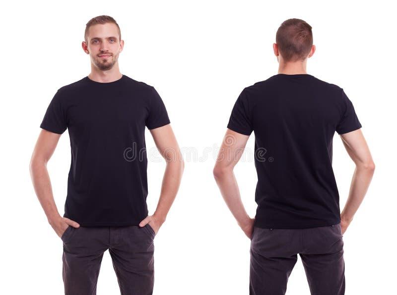 黑人衬衣t 库存图片