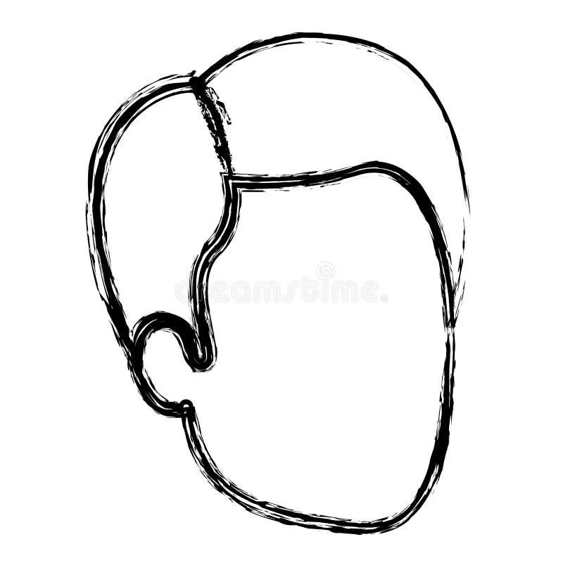 人被弄脏的剪影匿名与理发边分开了 皇族释放例证