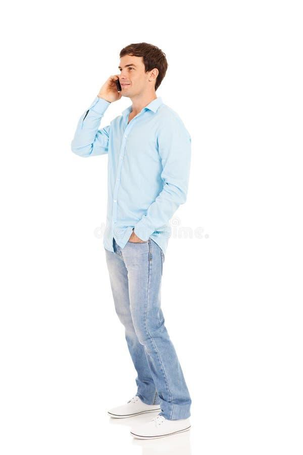人谈的电话 免版税图库摄影