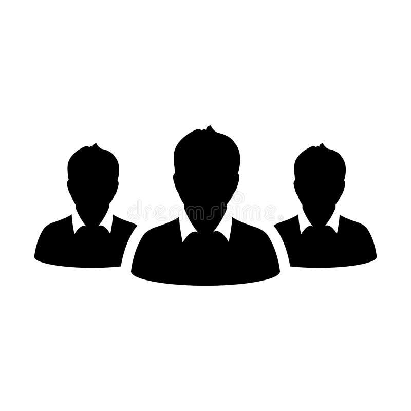 人象男性企业队管理人具体化的传染媒介小组 向量例证
