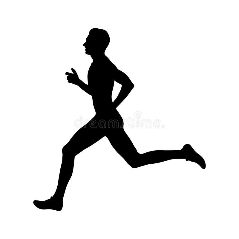 人赛跑者运动员赛跑 库存例证