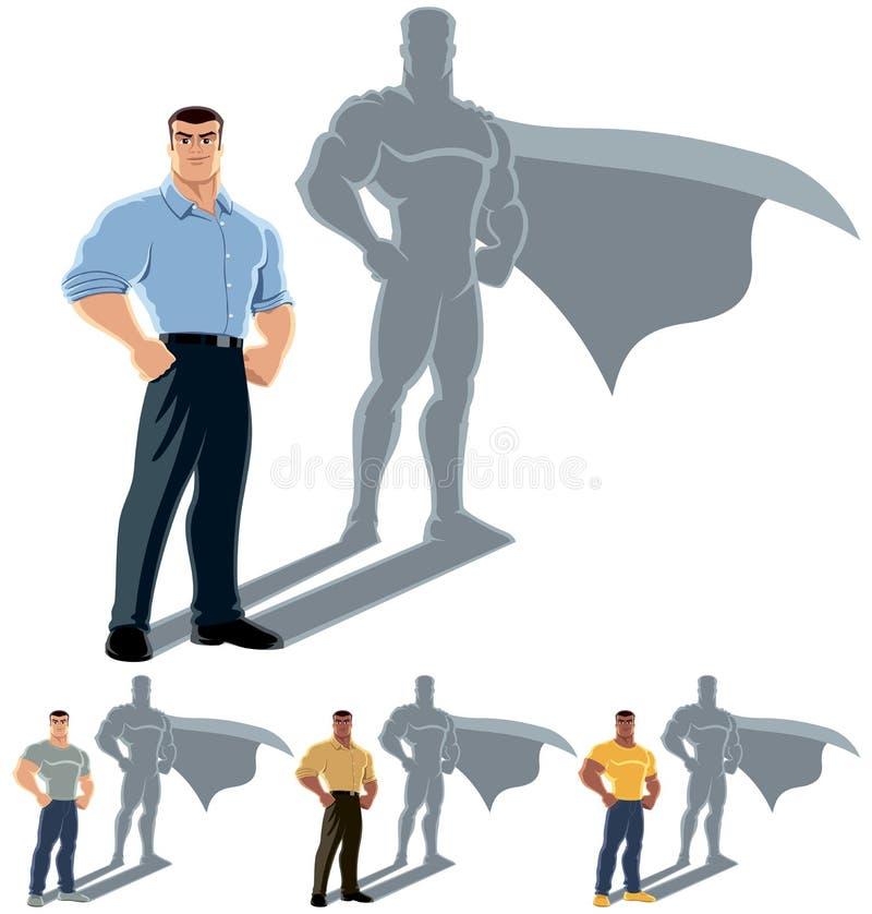 人超级英雄概念 向量例证