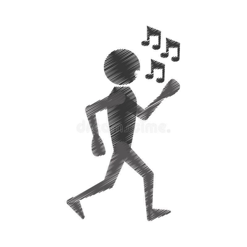 人跳舞象设计 库存例证