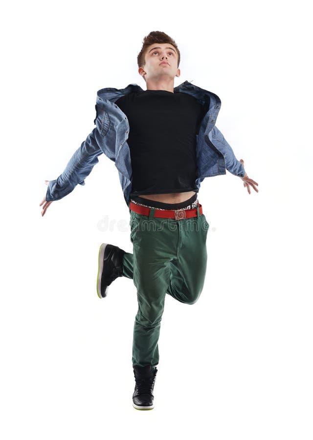 年轻人跳舞 免版税库存图片