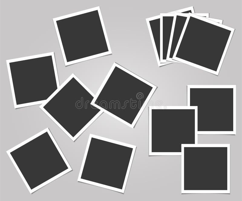 人造偏光板套照片框架 导航您的时髦照片或图象的模板 库存例证
