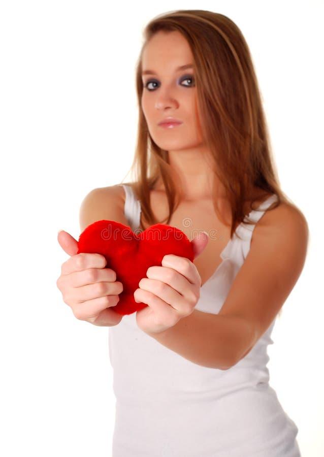 人造心脏红色妇女