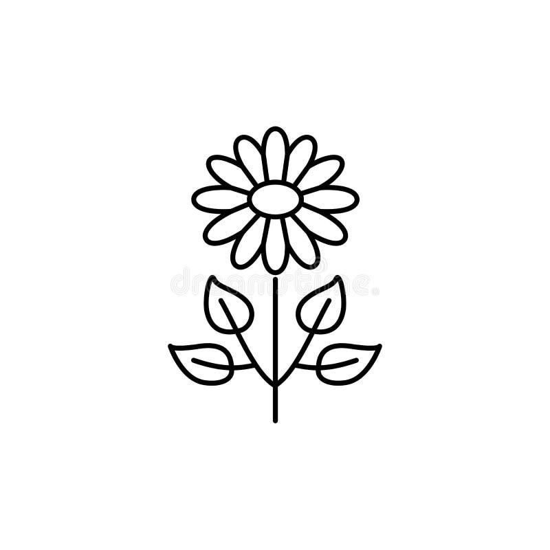 人造花的黑&白色传染媒介例证与leav的 库存例证