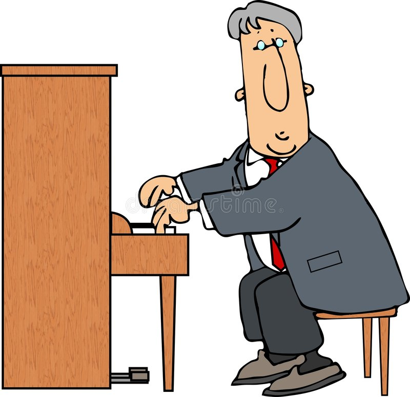 人钢琴 皇族释放例证