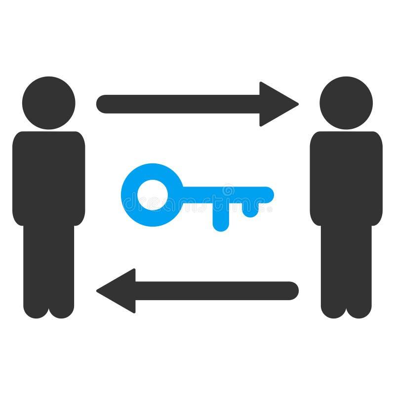 人钥匙交换传染媒介象 库存例证