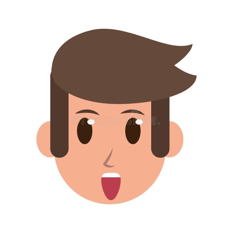 人面孔字符动画片隔绝了 皇族释放例证