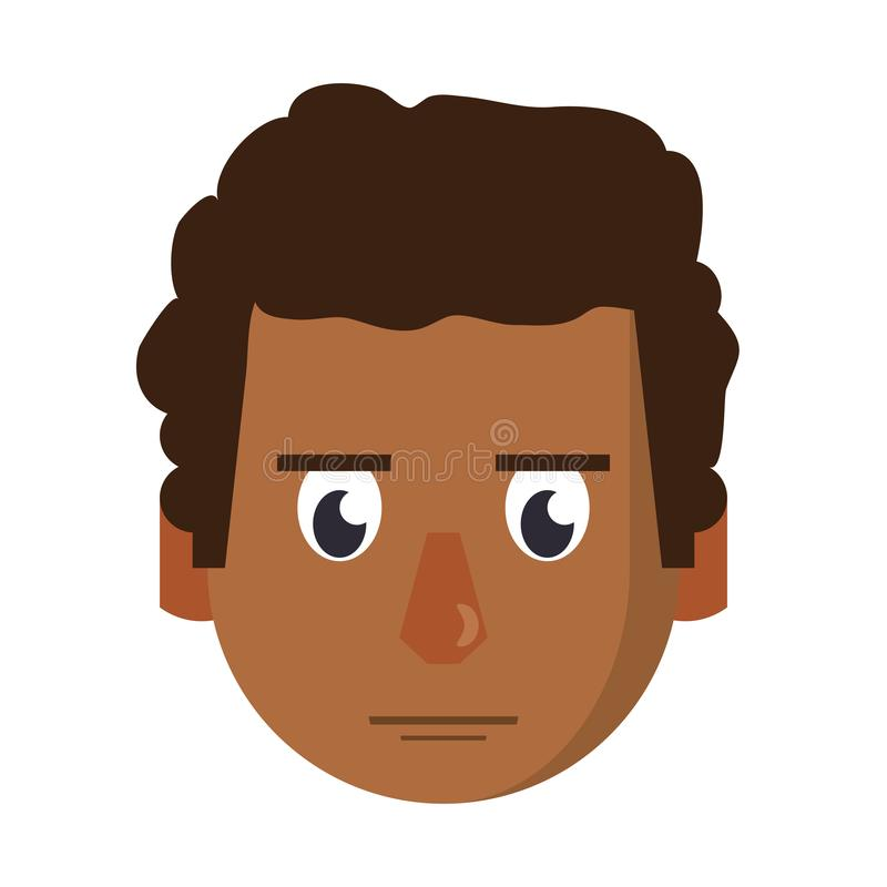 人面孔顶头字符动画片 向量例证