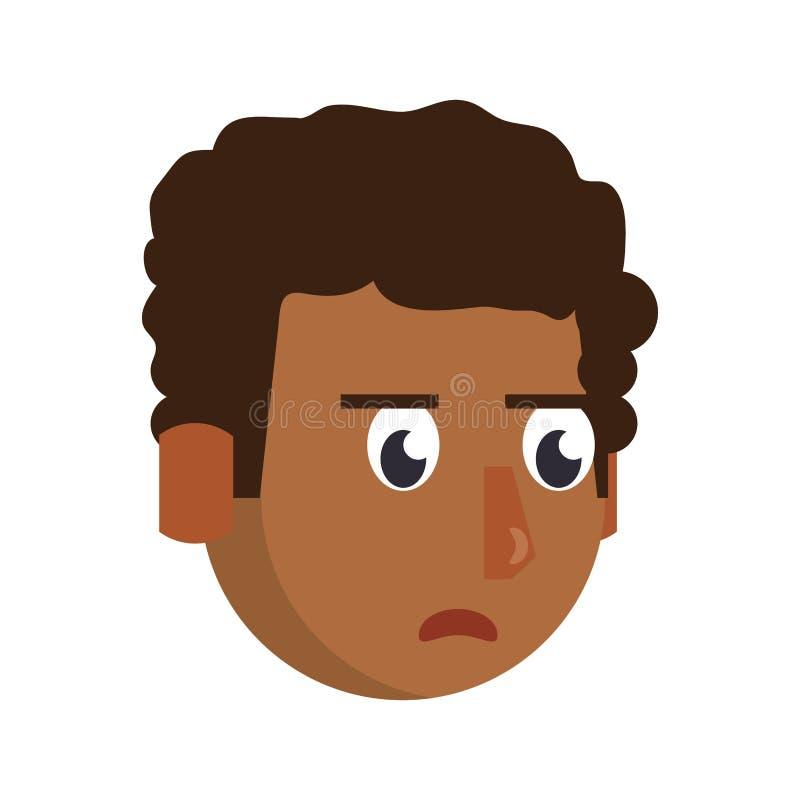 人面孔顶头字符动画片 库存例证