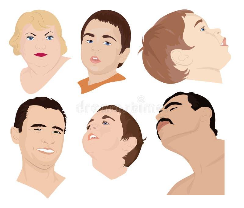 人面孔 向量例证