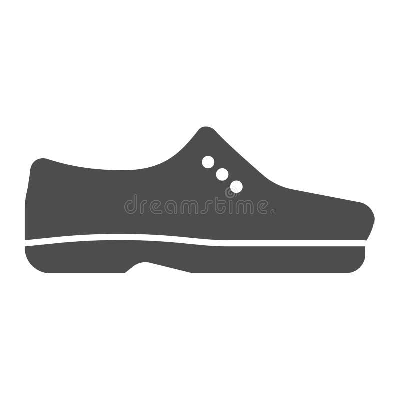 人鞋子坚实象 男性鞋子导航在白色隔绝的例证 正式鞋类纵的沟纹样式设计,设计为 向量例证