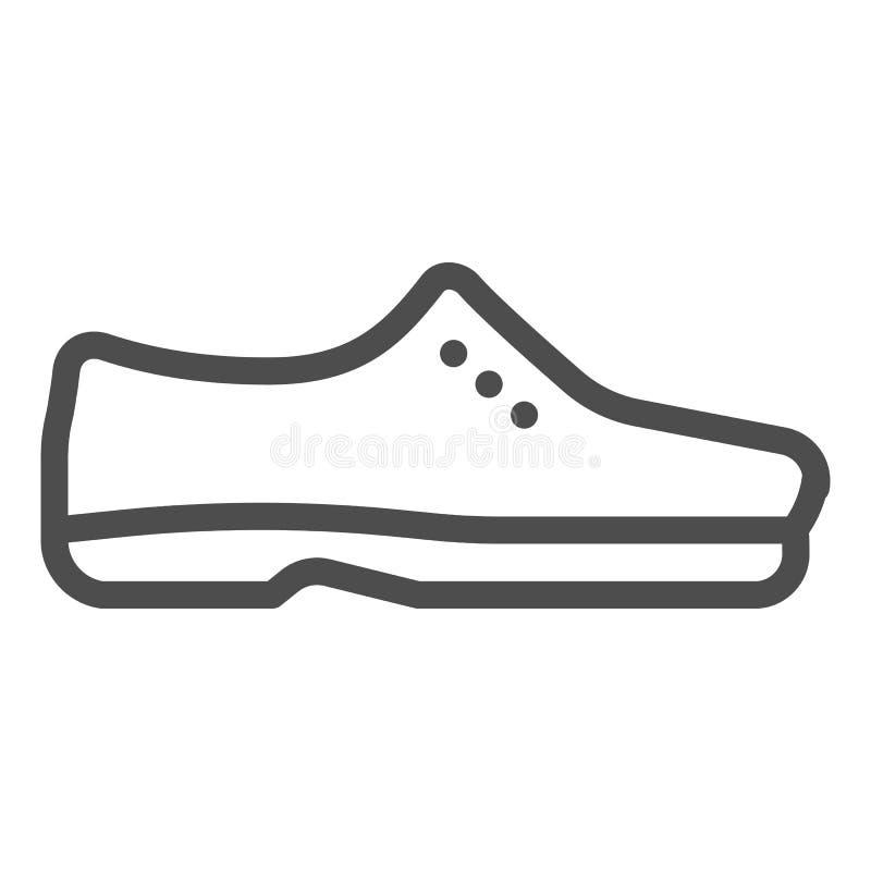 人鞋子排行象 男性鞋子导航在白色隔绝的例证 正式鞋类概述样式设计,被设计 向量例证