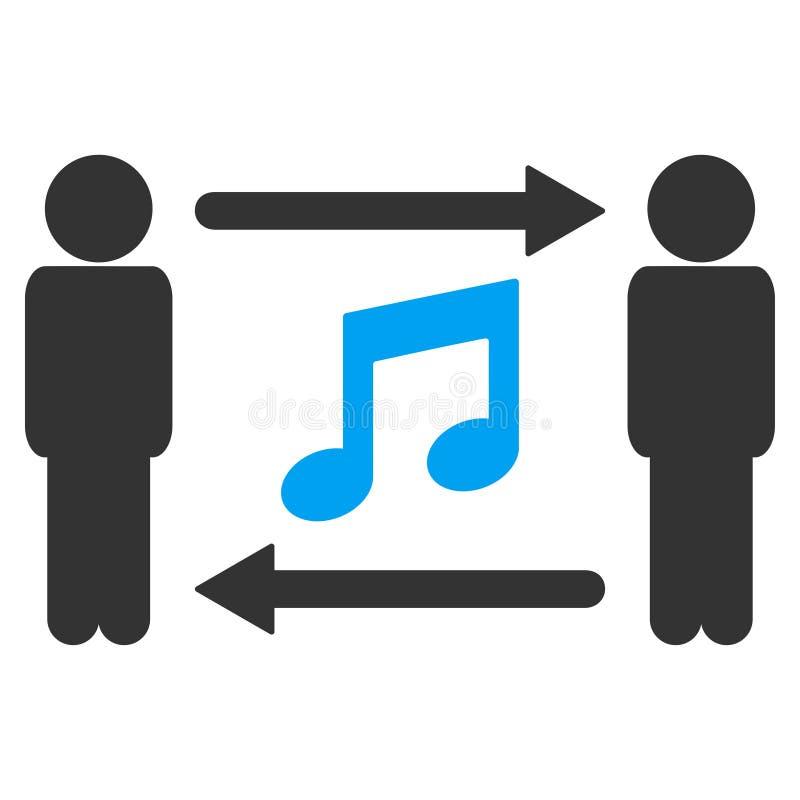 人音乐交换传染媒介象 皇族释放例证