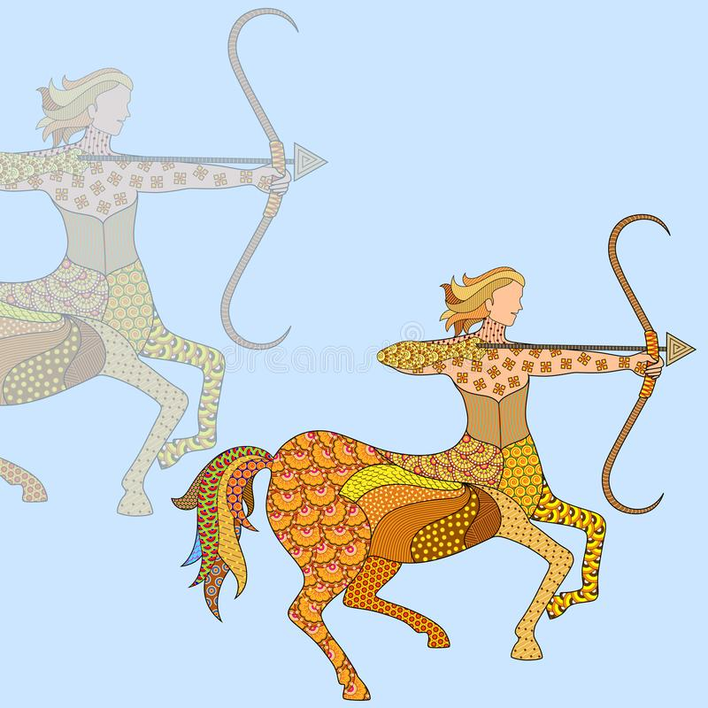 人马座占星术黄道带标志 皇族释放例证