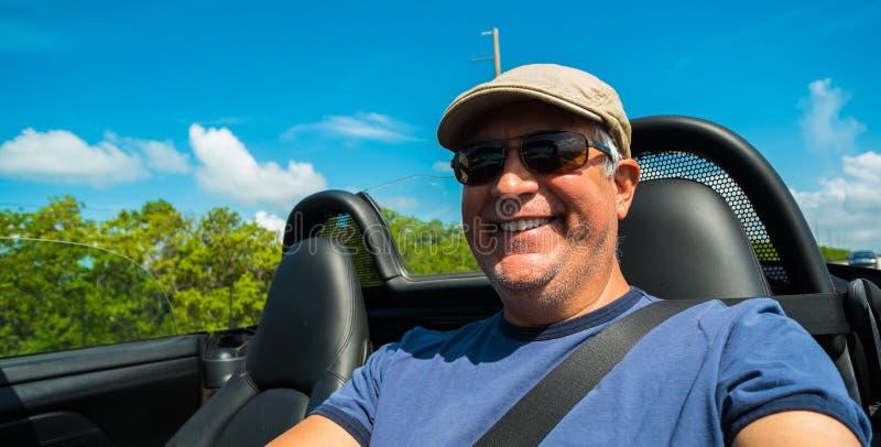人驾驶 免版税库存照片
