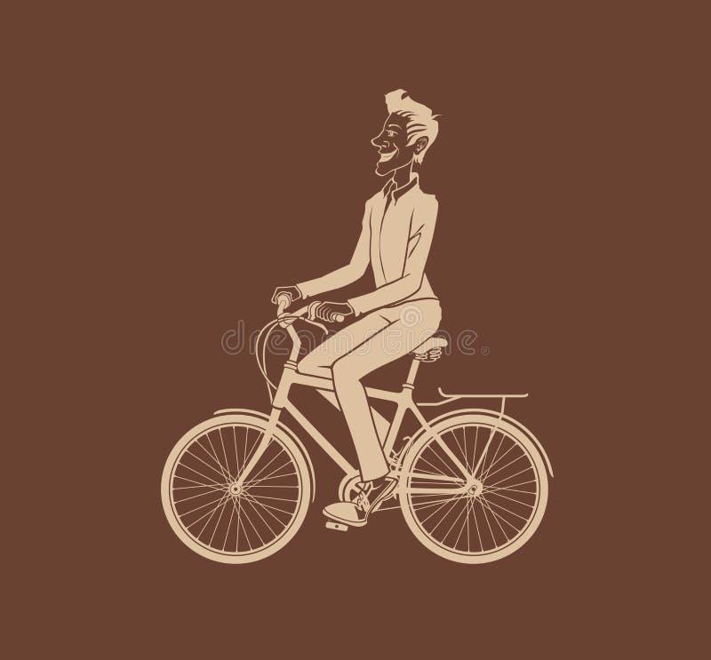 人骑自行车 向量例证