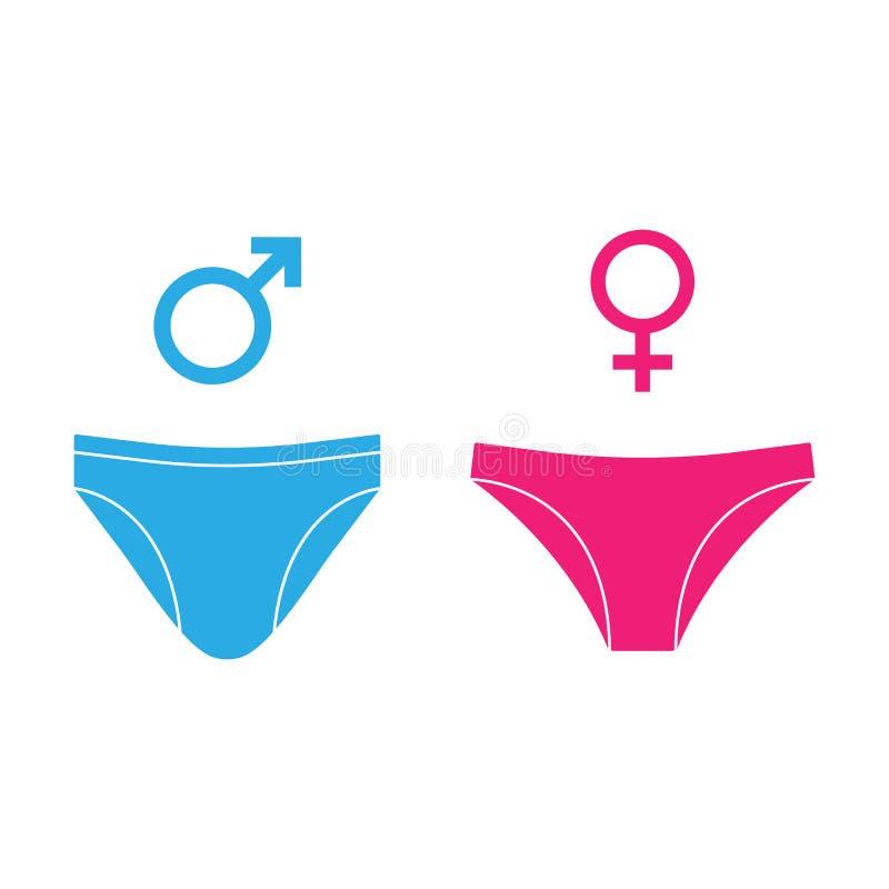 人,妇女内衣,性别象 : 向量例证