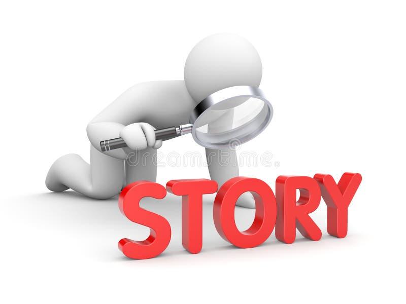 人读了故事 皇族释放例证
