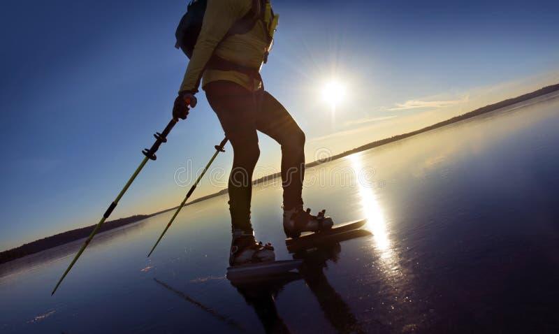 人滑冰 免版税图库摄影