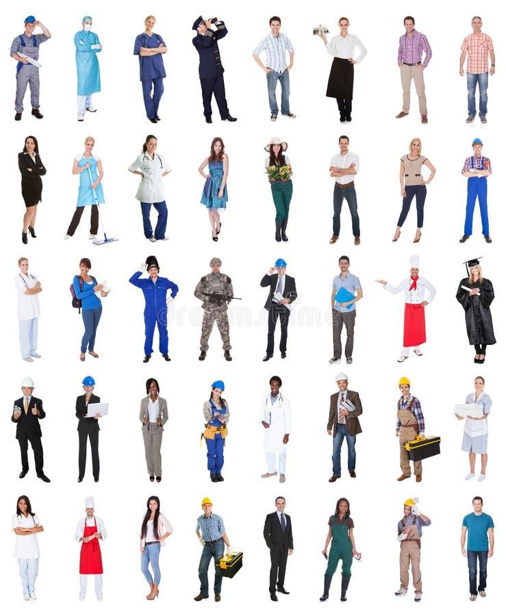 人从各种各样的行业的 免版税图库摄影