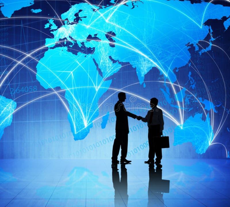 人们和全球企业会议 免版税库存照片