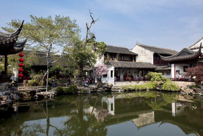 春天在中国庭院里 免版税库存照片