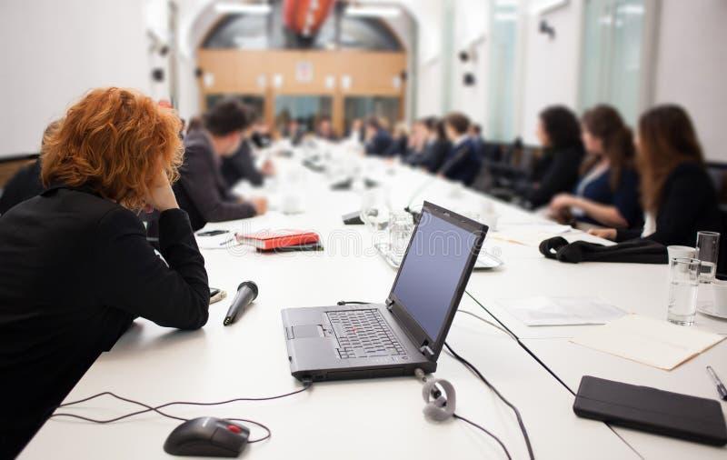 人们在会议 免版税库存图片
