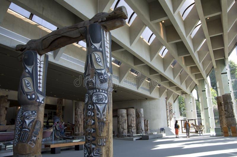 人类学博物馆在UBC的 库存图片