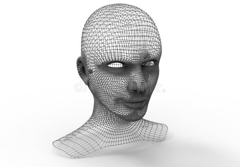人头导线被构筑的模型 皇族释放例证
