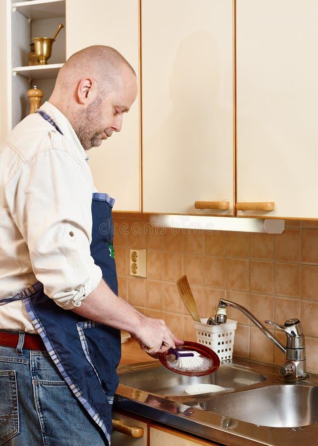 人洗涤盘 免版税库存图片