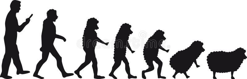 人类演变绵羊 向量例证