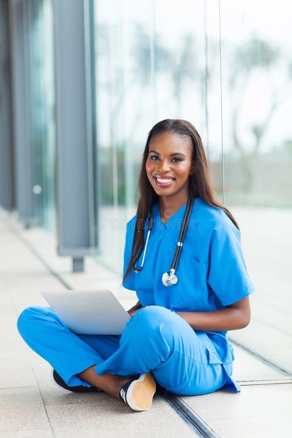 黑人医疗保健工作者 库存照片