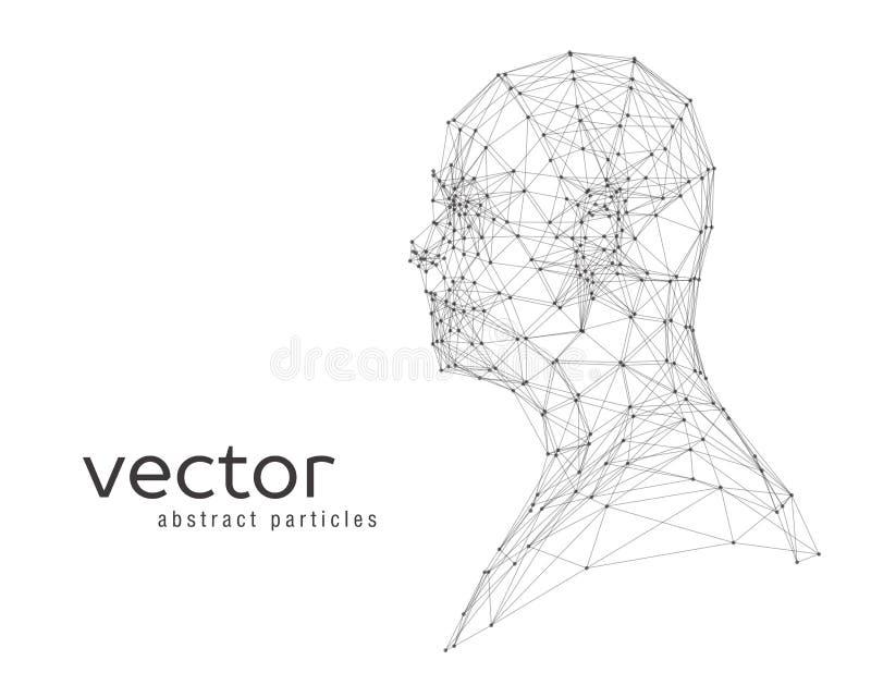 人头的抽象传染媒介例证 向量例证