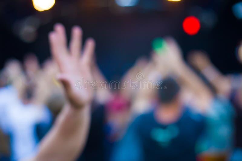 人们获得乐趣在音乐会 免版税库存图片
