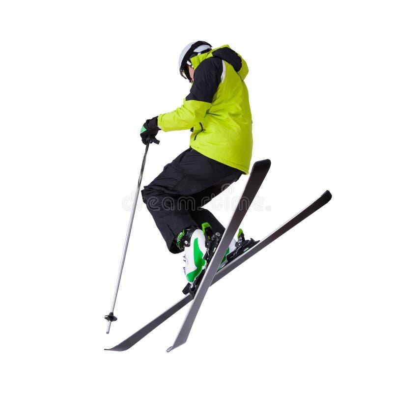 人滑雪者自由式跳跃 免版税库存图片