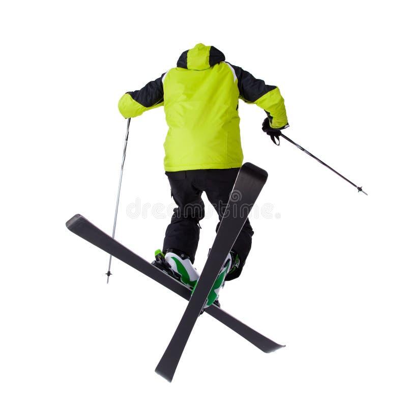 人滑雪者自由式跳跃 库存照片