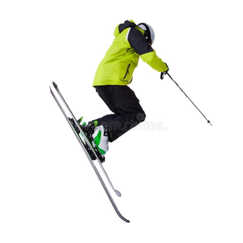 人滑雪者自由式跳跃 免版税库存照片