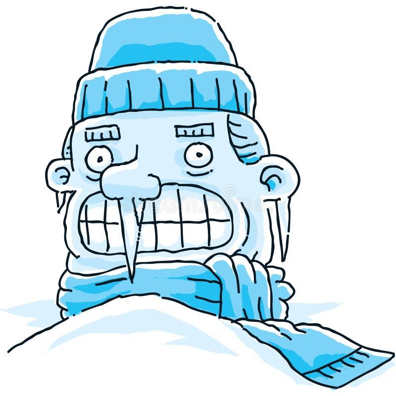 冻结人 向量例证