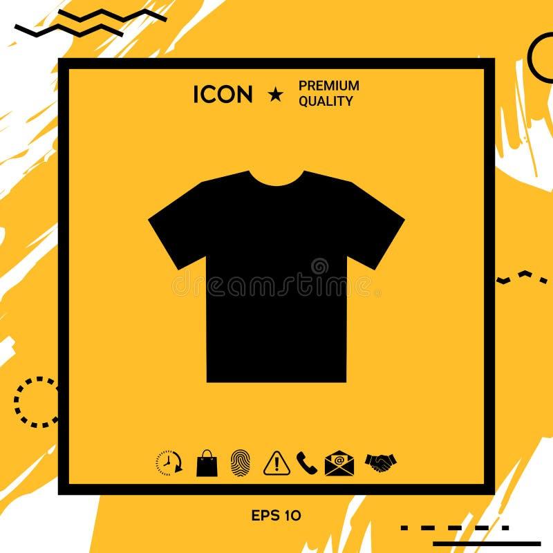 人` s T恤杉象,剪影 在网络设计的菜单项目 向量例证