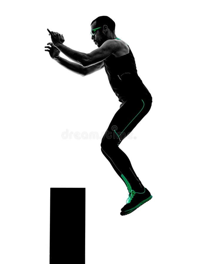 人crossfit行使健身剪影 图库摄影