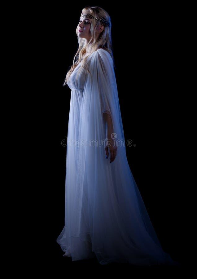 年轻人elven女孩被隔绝 图库摄影