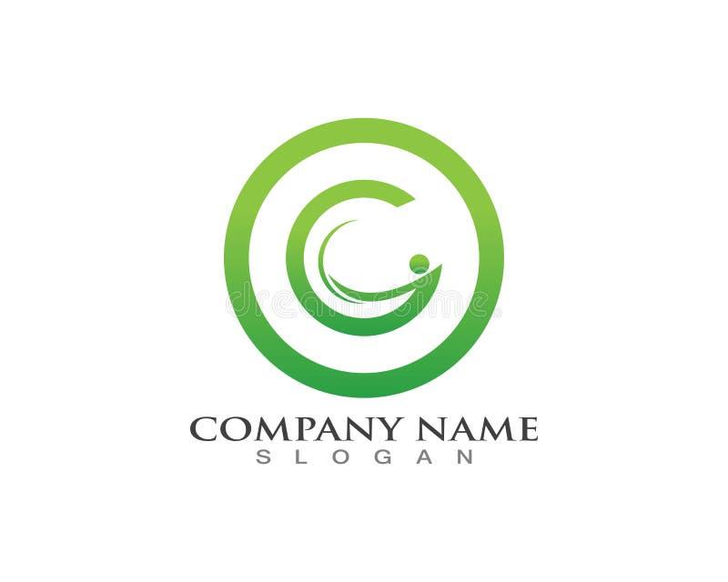 人G信件商标和标志模板 向量例证