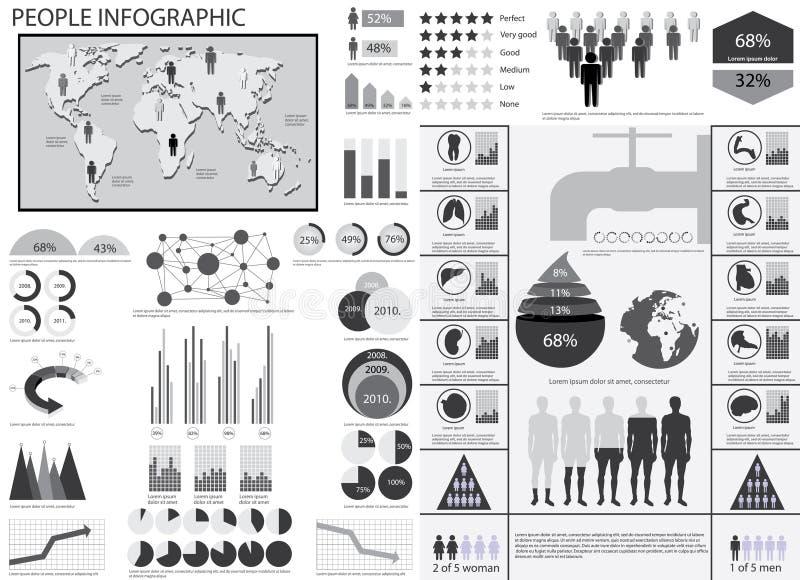 人infographic向量例证。 向量例证