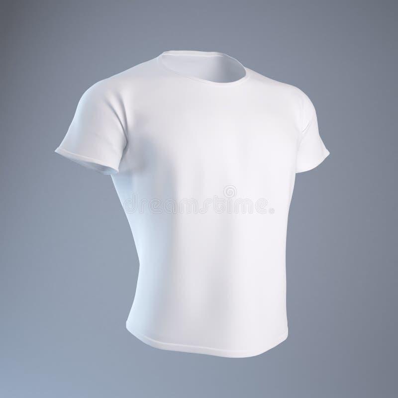 人s衬衣t白色 库存例证