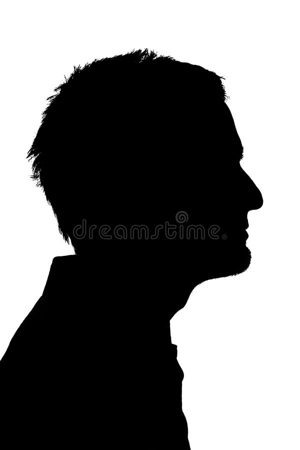 年轻人silohuette 免版税库存图片