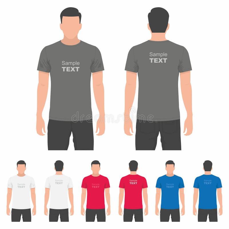 Download 人T恤杉设计模板 向量例证. 插画 包括有 布料, 织品, 衬衣, 前面, 衣物, 凹道, 服装, 礼服 - 72351207
