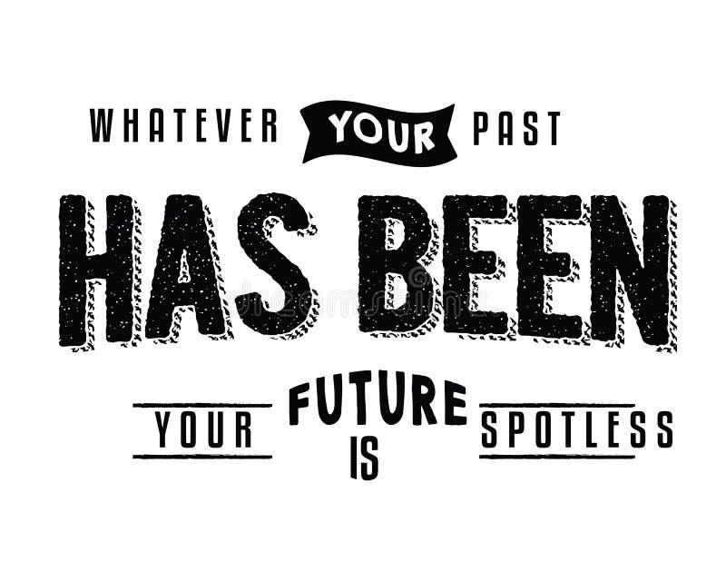 什么您的过去是您的未来是一尘不染的 皇族释放例证